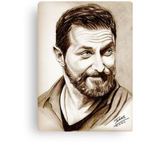 Richard Armitage, shining, sepia Canvas Print