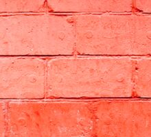 Red background of bricks with a layer of paint closeup Sticker