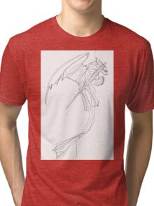 Toothless - Continuous Fine Line Tri-blend T-Shirt