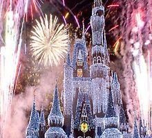 Beautiful Ice Castle with Fireworks by jaffrywardjr