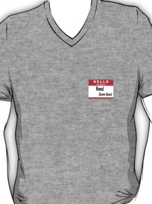 Hello My Name is Bond, James Bond Name Tag T-Shirt