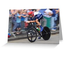 Bradley Wiggins - London 2012 Olympic Gold In TheTime Trial  Greeting Card