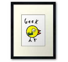 Geek Chick Framed Print