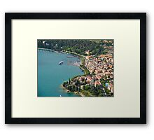 Garda town from the sky Framed Print
