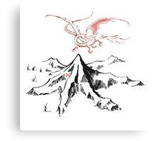 Smaug and the mountain Metal Print