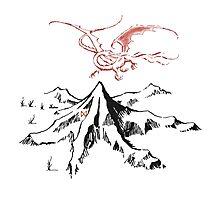 Smaug and the mountain Photographic Print