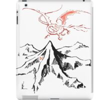 Smaug and the mountain iPad Case/Skin