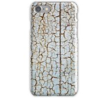 Rusty metal surface is covered with a thick layer of paint iPhone Case/Skin