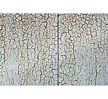 Rusty metal surface is covered with a thick layer of paint Photographic Print