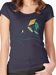 Flying Bird...house Women's Fitted Scoop T-Shirt