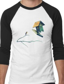 Flying Bird...house Men's Baseball ¾ T-Shirt
