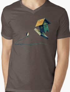 Flying Bird...house Mens V-Neck T-Shirt
