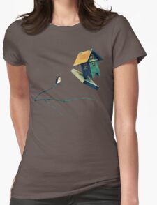Flying Bird...house Womens Fitted T-Shirt