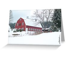 Holiday Barn Greeting Card
