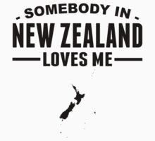 Somebody In New Zealand Loves Me Kids Tee