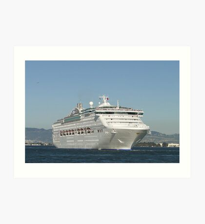 Sea Princess Departs Art Print