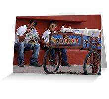 The Miracle Of Hot Mexican Food - El Milagro De Las Picantes Comidas Mexicanas Greeting Card