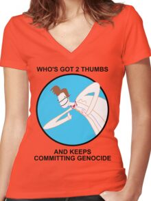 Who Killed All The Daleks? Women's Fitted V-Neck T-Shirt