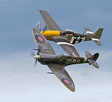 Spitfire & P-51 Mustang by Steve  Liptrot
