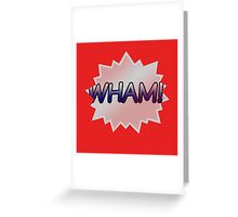 RED WHAM Greeting Card
