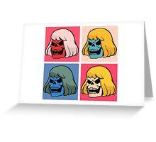 Skeleton Warhol Greeting Card