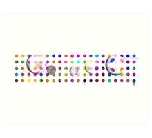 100 DOTS WITH DAMIEN HIRST(C2015) Art Print
