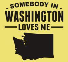 Somebody In Washington Loves Me Kids Tee