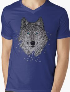 Vector Wolf Mens V-Neck T-Shirt