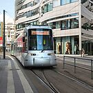 Tram in Düsseldorf, Germany. by David A. L. Davies