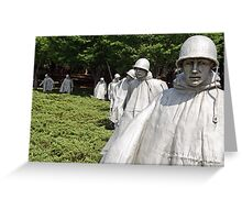 Korean War Veterans Memorial Greeting Card