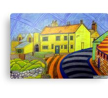 364 - CRASTER REDECORATED - DAVE EDWARDS - COLOURED PENCILS - 2012 Canvas Print
