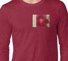 Serenity Prayer Red Rose on Green Long Sleeve T-Shirt