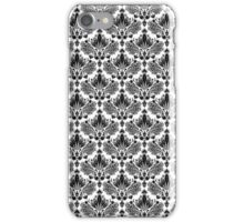 Black & White Vintage Floral Pattern iPhone Case/Skin