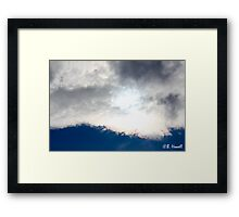 Sun Through the Clouds Framed Print