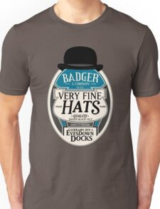 Badger's Very Fine Hats Unisex T-Shirt