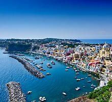 Panoramic view of Corricella by Andrea Rapisarda