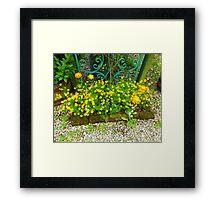 Flowers From An Irish Garden For Mattie Framed Print