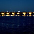 Bordeaux: Bridge at night by bubblehex08