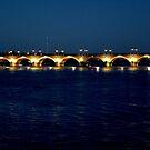 Bordeaux: Bridge at night by bubblehex08