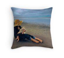 Abby and Anna Throw Pillow