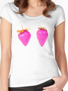 strawbits Women's Fitted Scoop T-Shirt