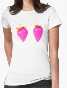 strawbits Womens Fitted T-Shirt
