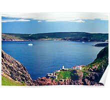 St Johns Harbour From Signal Hill Poster