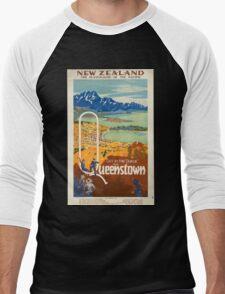 Vintage poster - New Zealand Men's Baseball ¾ T-Shirt