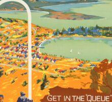Vintage poster - New Zealand Sticker