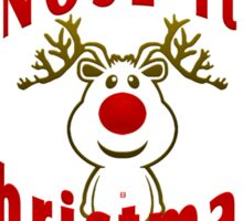 I Nose It's Christmas Sticker