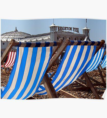 The Blue & White Stripes of Brighton Poster