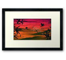 Oriental Dusk Framed Print