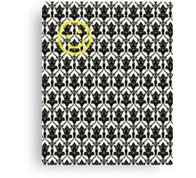 BBC Sherlock 'Bored Smiley Face'  Canvas Print