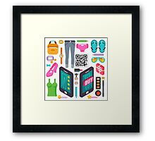 Proximity Shop Concept Isometric Framed Print